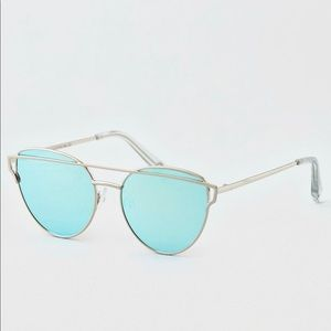 Blue Winged Sunglasses